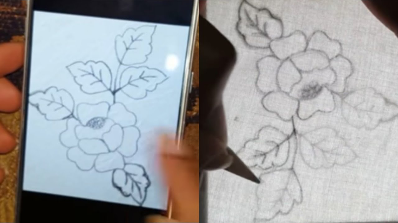 Runing Stitch Flower Embroidery