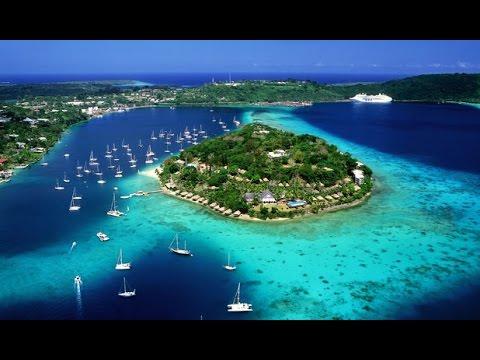 Geoffs Highway View Vanuatu : Airport to Melenesian Hotel  Port Vila