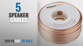 Top 10 Speaker Cables [2018]: AmazonBasics 16-Gauge Speaker Wire 1.3 mm² - 30.48 m (100 feet)