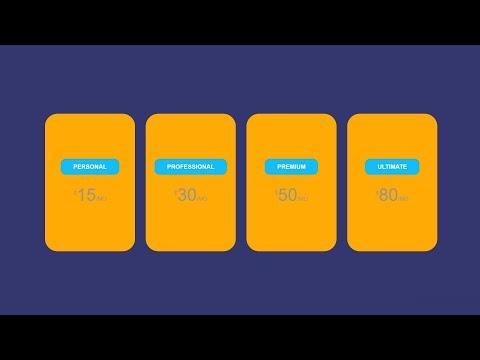 Amazing Pricing Card With Only Html And Css| Как создать ценовую карту с помощю HTML & CSS