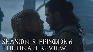 In this video I give my opinion on Game of Thrones Season 8 Episode 6, the finale of the show! I breakdown and review my thoughts and feelings on episode 6 and give my final thoughts on the shows conclusion. This episode focuses on the rule of Queen Daenerys Targaryen rule and how the remaining characters handle it.  Let me know your opinion in the comments down below :)  YouTube: youtube.com/buzztox Patreon: https://www.patreon.com/BuzzTox Twitter: https://twitter.com/BuzzTox