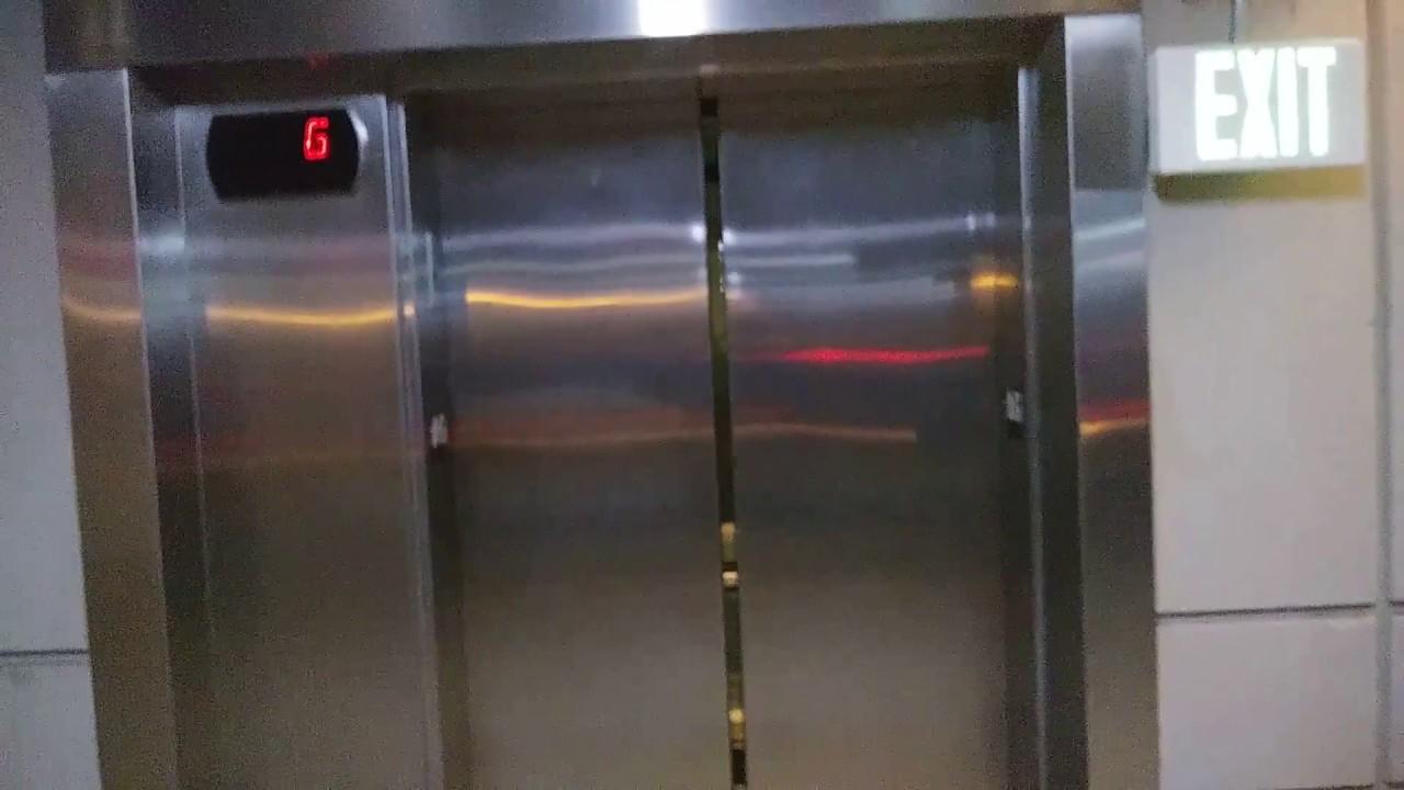 Scenic Otis Hydraulic Elevator At Union Station West Yards Parking Garage  Kansas City, Missouri