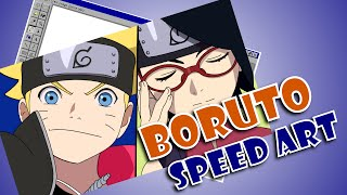 Especial - Boruto do anime Naruto no Ms Paint XP - Speed Art