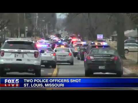 Two St. Louis police officer shot