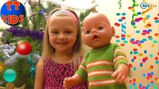 ✔ Беби Борн и Ярослава. Поздравление с Наступающим Новым Годом / Doll Baby Born with Yaroslava ✔