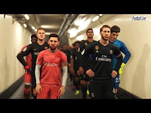 PES 2019 | REAL MADRID vs FC BARCELONA | El Clasico | Gameplay PC