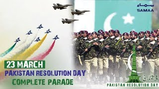 Pakistan Day Complete Parade   SAMAA TV   23 March 2019