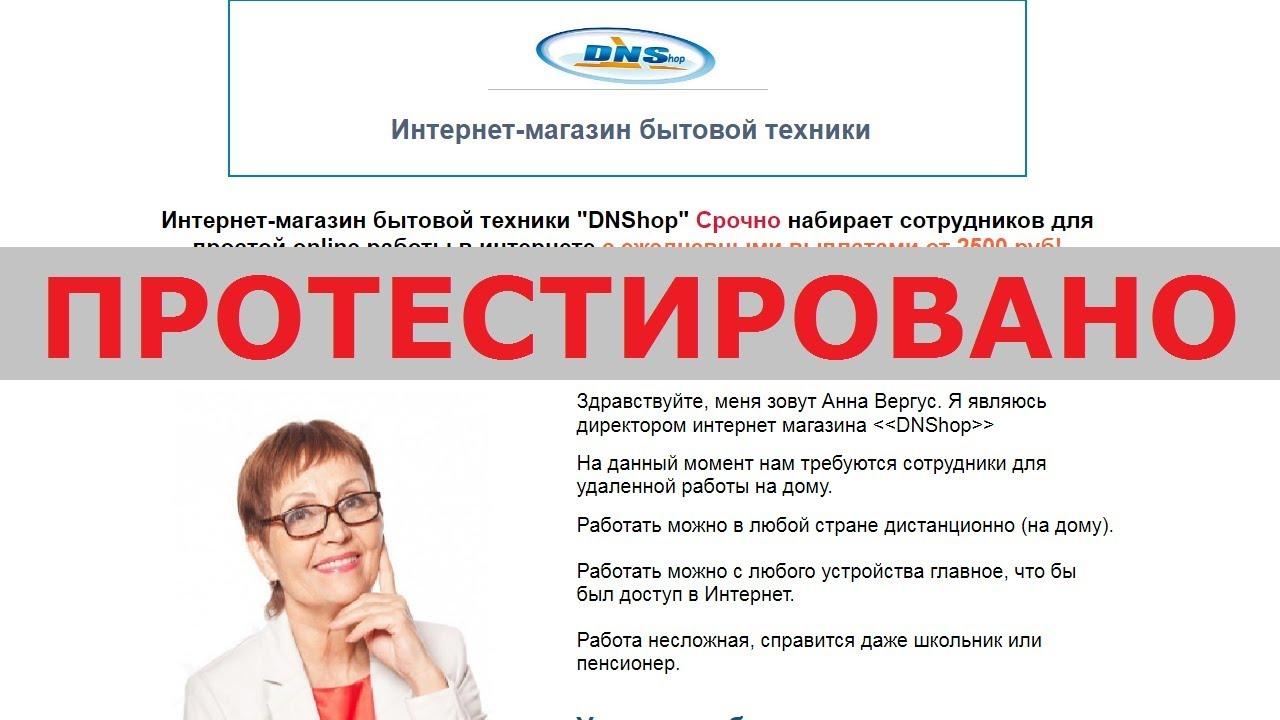 343eec1d0e65d Интернет-магазин DNShop и Анна Вергус ищут сотрудников с зп от 2500 руб. в  день? Честный отзыв.