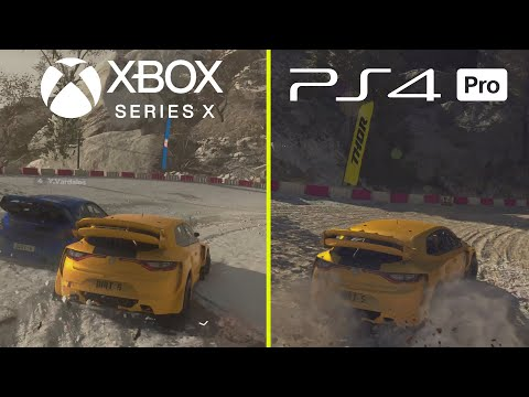 DIRT 5 Xbox Series X vs PS4 Pro Early 4K Graphics Comparison