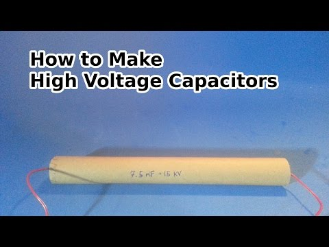 Make a High Voltage Capacitor - 7.5 nF 15,000 Volts