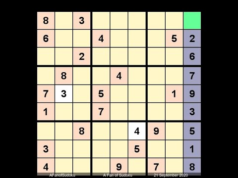 How to Solve Los Angeles Times Sudoku Expert September 21, 2020