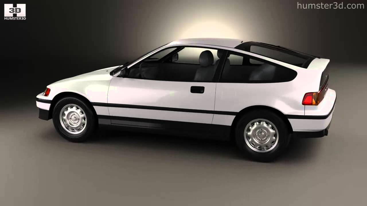hight resolution of honda civic crx 1988 by 3d model store humster3d com