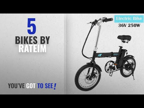 Top 10 Rateim Bikes [2018]: 16'' Unisex Folding Electric Bicycle with Lithium Battery, Outdoor