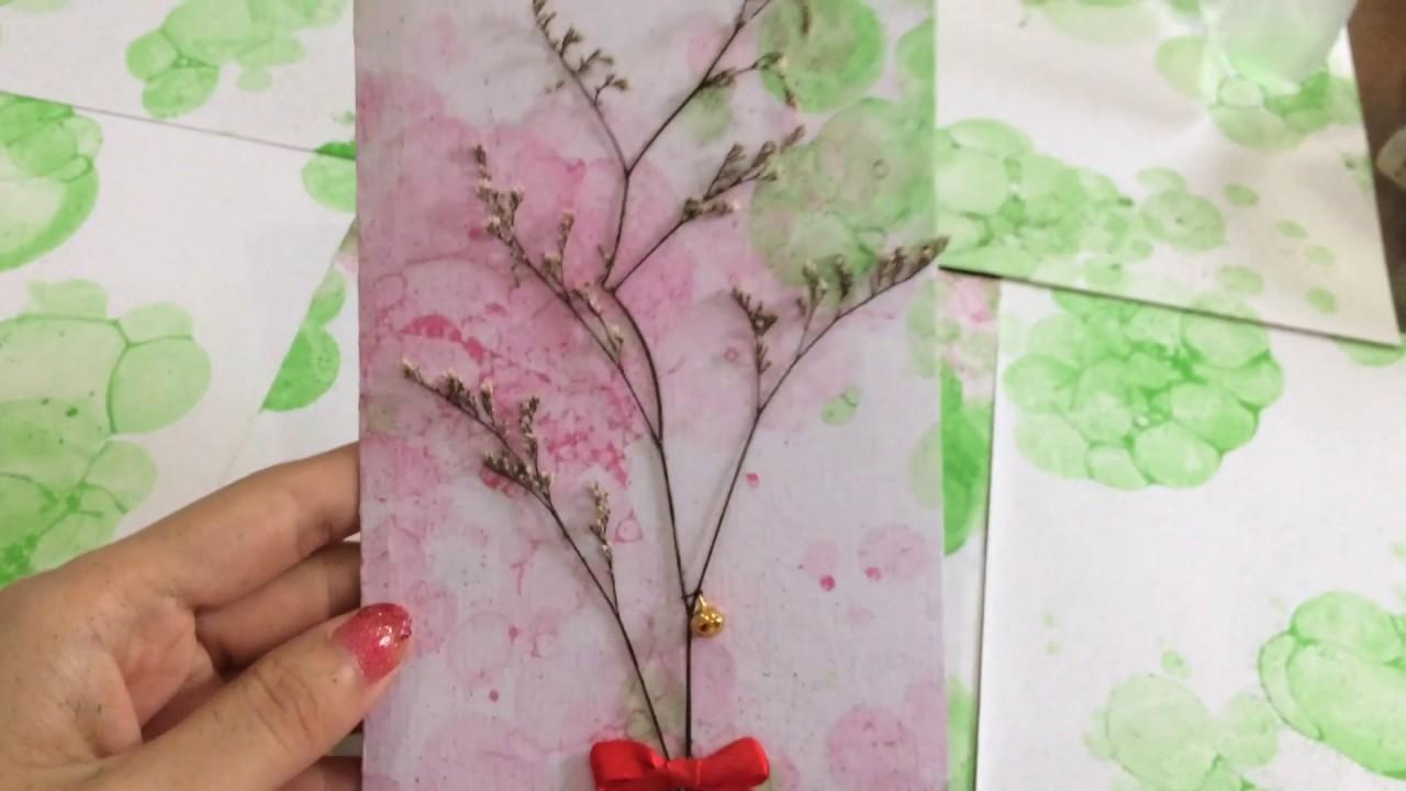 Diy Dried Flower Greeting Card Easy Tutorial Youtube