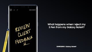 Galaxy Note9: How to Use Air Command and Screen Off Memo