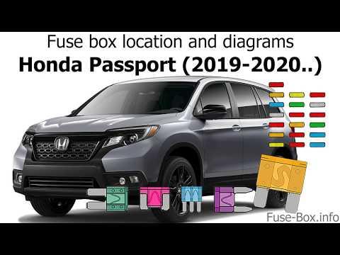 Fuse box location and diagrams: Honda Passport (2019-2020..) - YouTubeYouTube