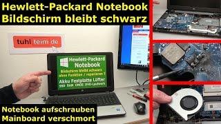 HP Notebook funktioniert nicht mehr - Bildschirm bleibt schwarz - öffnen und prüfen - [4K Video]