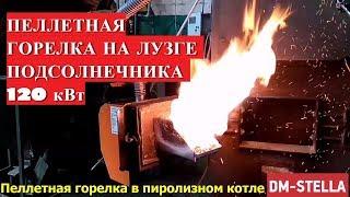 Пеллетная горелка 120 кВт в пиролизном котле DM-STELLA(, 2017-05-24T02:34:32.000Z)