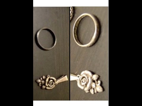 How to clean badly tarnished sterling silver jewelry with baking soda♡Rose Coco