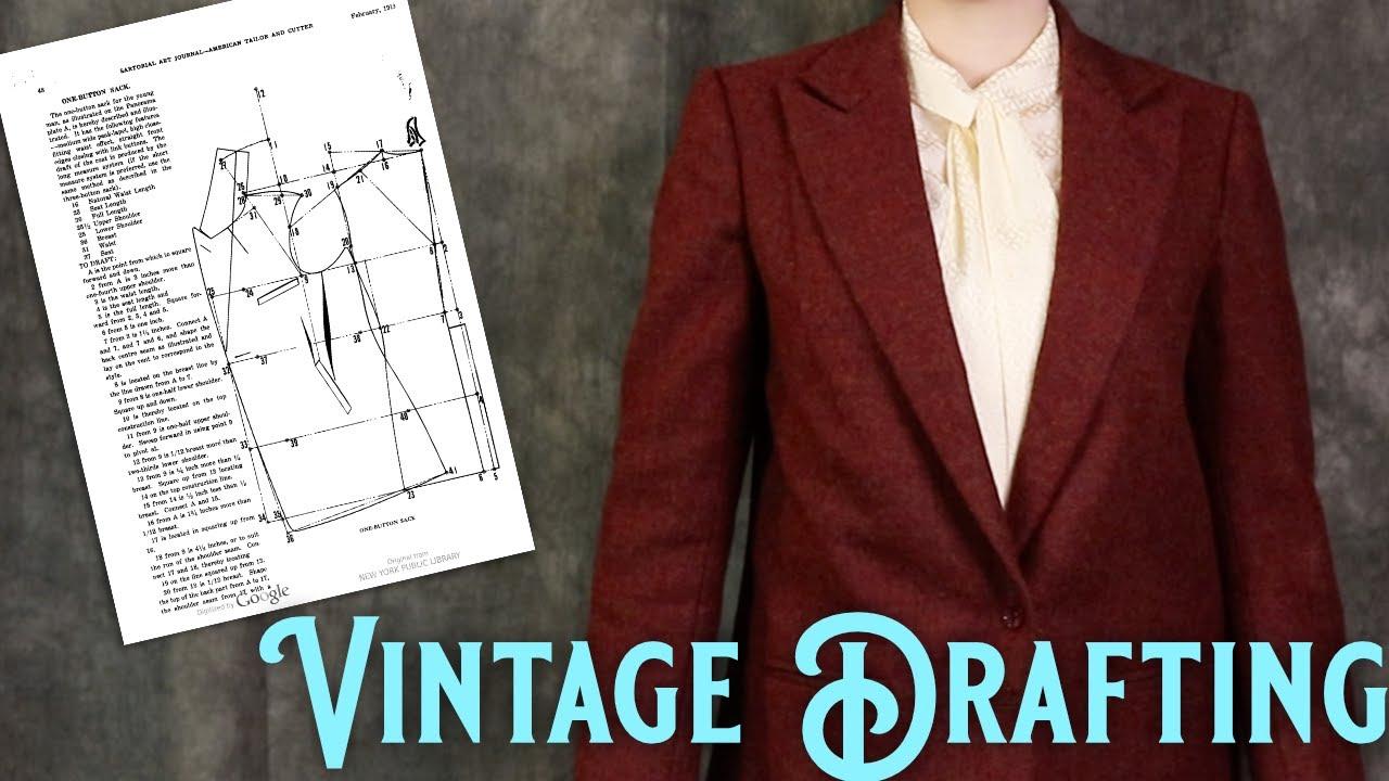 The Secrets of Drafting: Patterning a 1920s Men's Coat