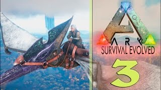 Ихтиозавры. Полёт к потухшему вулкану. # 3 Ark Survival Evolved.