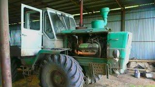 48-Д.Пуск крокодила Гены (Т-150К) после ремонта ЯМЗ-236.Цепляю дискатор БДМ-3х4П