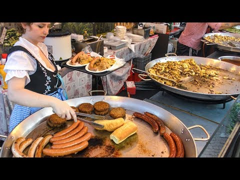 Street Food from The World. Huge Festival seen in Italy
