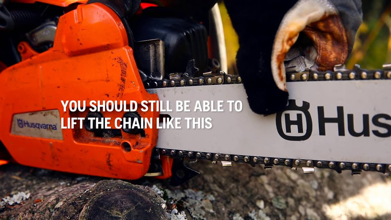 Husqvarna chainsaw chain tension sevenstonesinc how to tension the chain you how to put chain back on husqvarna chainsaw greentooth Choice Image