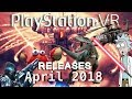PSVR Releases April 2018 | 12 new games + 1 free Plus game