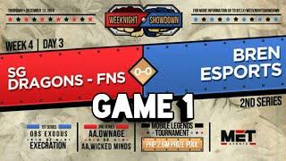 BREN ESPORTS VS SGD-FINESSE GAME 1   MET WEEKNIGHT SHOWDOWN