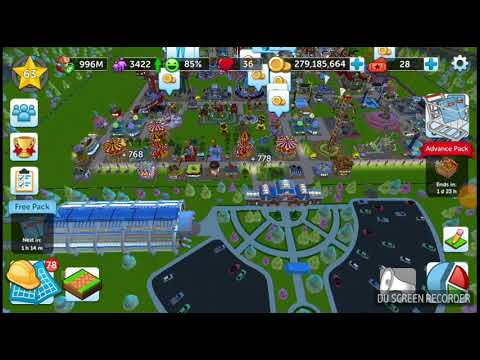 RCT Touch - 1 Billion Coin - level 63 - Roller Coaster Tycoon Touch