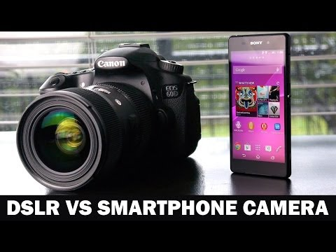 4K Sony Xperia Z2 VS 1080P Canon 60D DSLR Camera Comparison