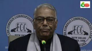 Senior Indian leader Yashwant Sinha at the FCC on 13.12.18.