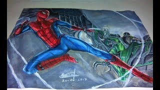 SPEED DRAWING: Spiderman vs Vulture (Spiderman Homecoming)