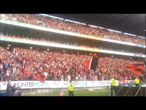 Wanderers & RBB Away - 10,000 travel to Newcastle! 2012/13 Premiers! NUJ vs WSW (29/03/2013)