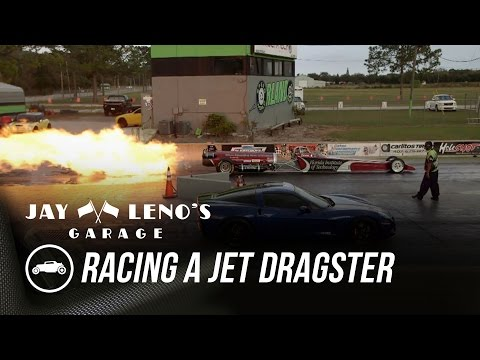 Jay Leno Races Jet Dragster In C6 Corvette – Jay Leno's Garage