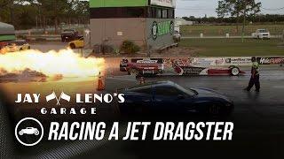 Jay Leno Races Jet Dragster In C6 Corvette - Jay Leno's Garage