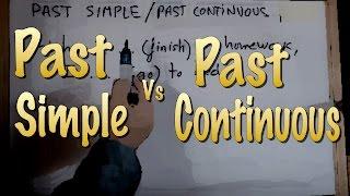 INGLÉS. Diferenciar Past Simple-Past Continuous. Inglés para hablantes de español.