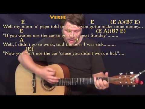 Summertime Blues (Eddie Cochran) Guitar Cover Lesson with Chords/Lyrics - E A B7