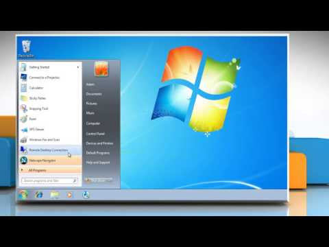 Uninstalling Netscape® 9 from Windows® 7 based PC