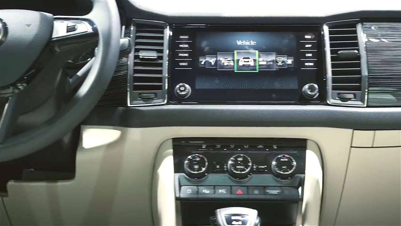 Koda kodiaq b renstarkes interieur youtube for Interieur kodiaq