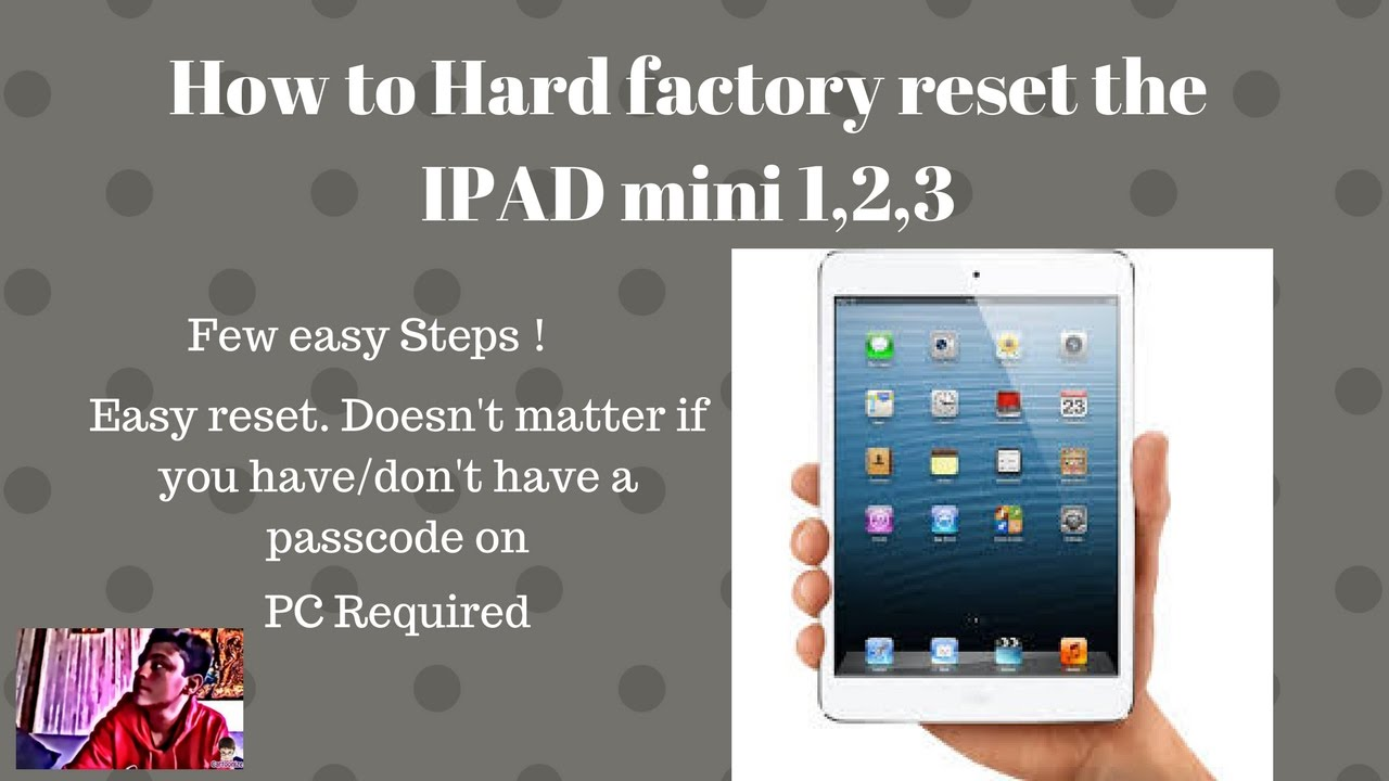 How to hard reset ipad air 2 without passcode