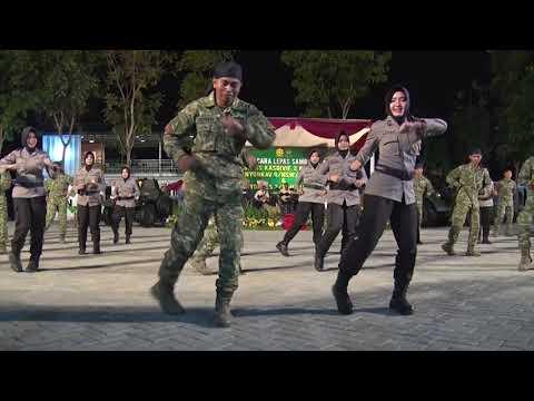 Goyang Tobelo TNI-Polri, Sinergitas Divif 2 Kostrad dengan Polres Kabupaten Pasuruan
