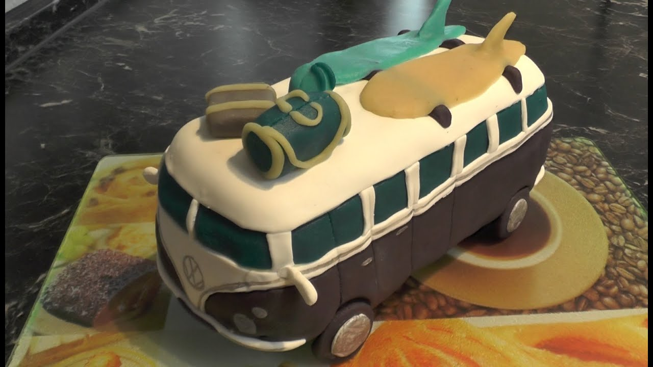 Vw T1 Bus Torte Vw Bulli Torte Freaky Baking Ninnin Youtube