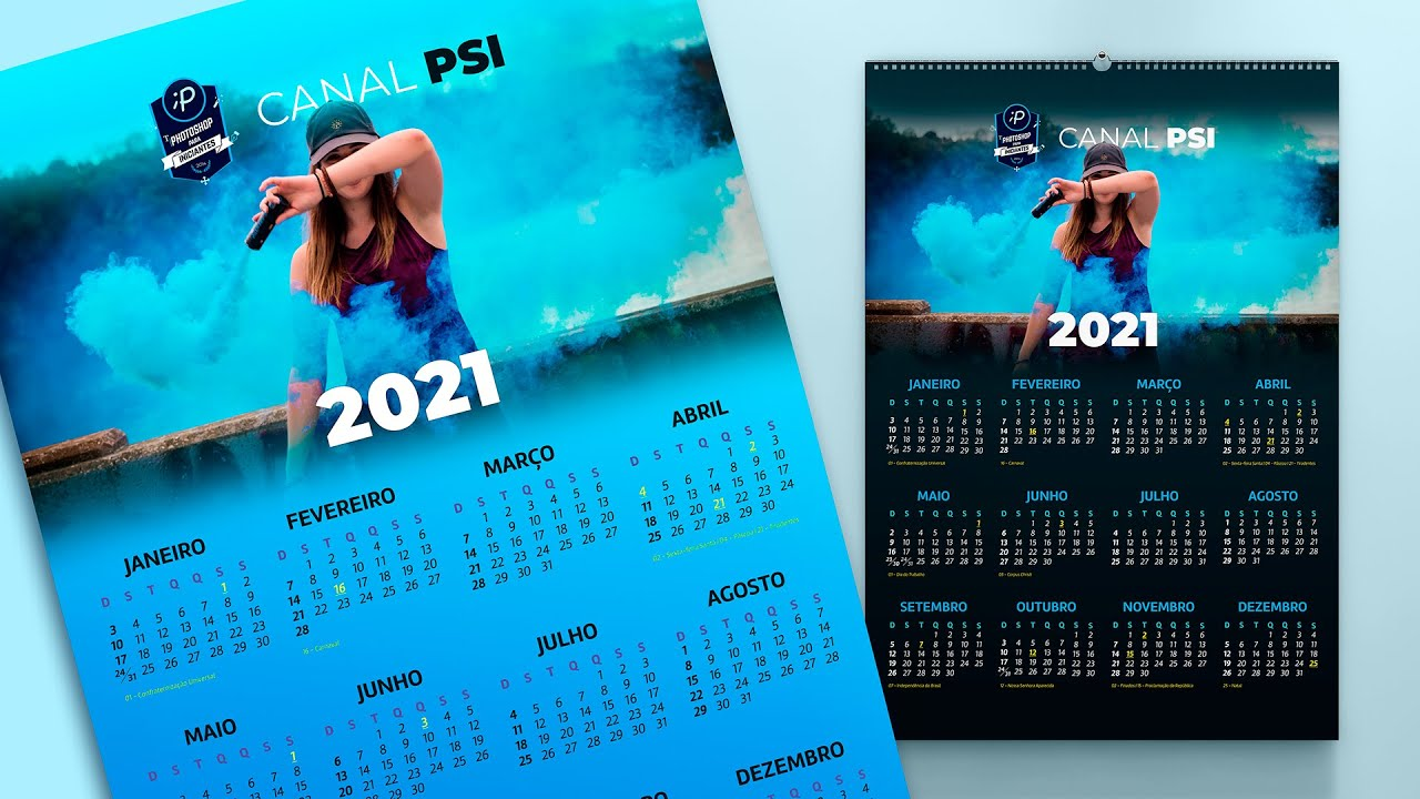 Como criar um Calendário no Photoshop para 2021