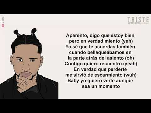 Bryant Myers Ft Bad Bunny Triste Letra