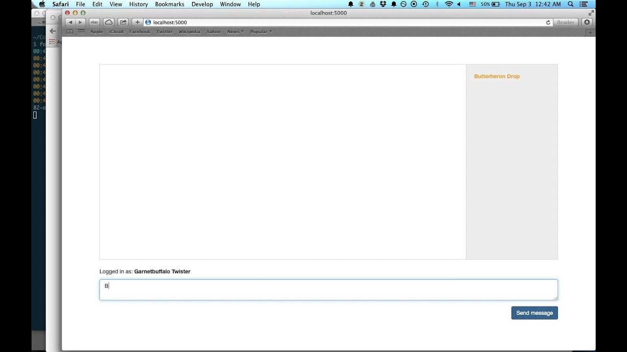 Chat rooms yahoo - Python Django Websocket Chat App