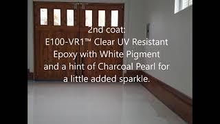 Gambar cover Pure white epoxy garage floor in single car garage studio