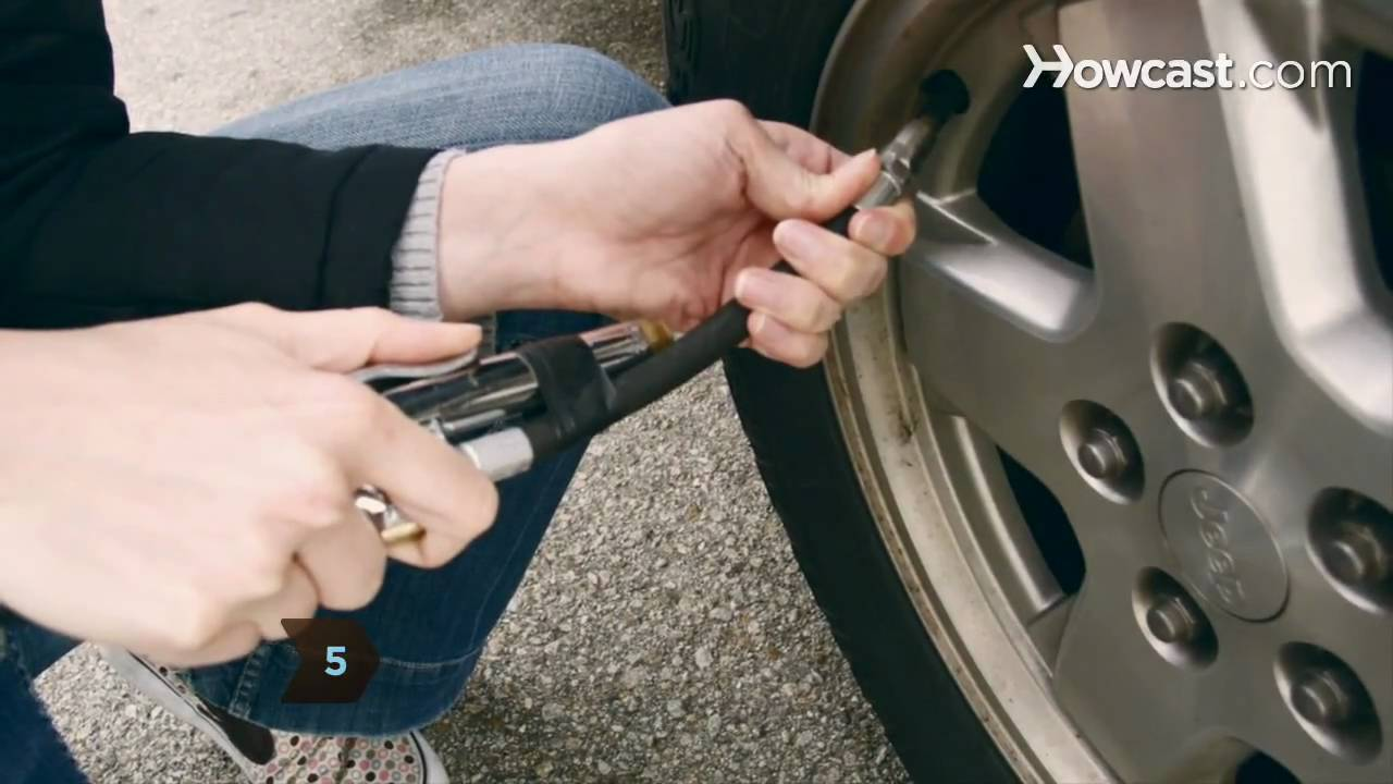 How To Inflate Car Tires Youtube