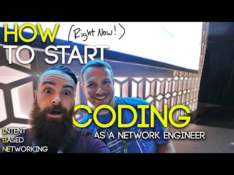 HOW to Start Coding (RIGHT NOW!) as a Network Engineer - ICND1   CCNA CCNP & Intent-Based Networking